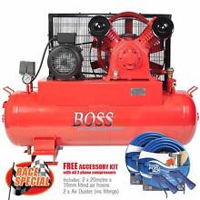BOSS 37CFM/ 7.5HP Air Compressor on 170L Tank (3 Phase) Browns Plains Logan Area Preview