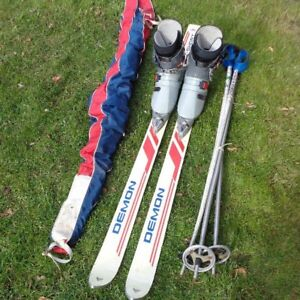 Ski + Boots + Poles + Bag / Case $40 or best offer