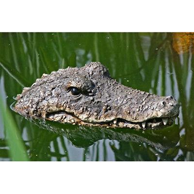 Dekofigur Gartenfigur Schwimmtier Krokodil Kopf Garten Teich ca. 32 x 16 x 9 cm