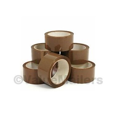 36 ROLLS 2 mil 2x110 Yard Carton Box Packaging Packing Tape 18 (TAN), 18 (CLEAR)