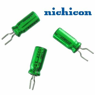 Lot Of 2 Nichicon Muse 10uf 25v Bipolar Radial Electrolytic Capacitor Audio Grd.