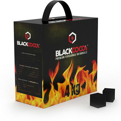 BLACKCOCO's 4KG Shisha Naturkohle | Black Cocos Natur Kohle Kokoskohle