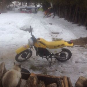 Mint condition 80 cc Suzuki dirt bike