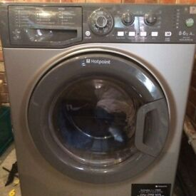 12 Hotpoint WDAL8640 8+6kg 1400Spin Silver Sensor Dry Washer/Dryer 1 YEAR GUARANTEE FREE DEL N FIT