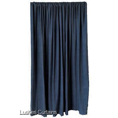 Blue Velvet Curtain Panel 10ft H Long Theater Stage Sound Reduction Velour Drape Cotton Velour Drapery Panels