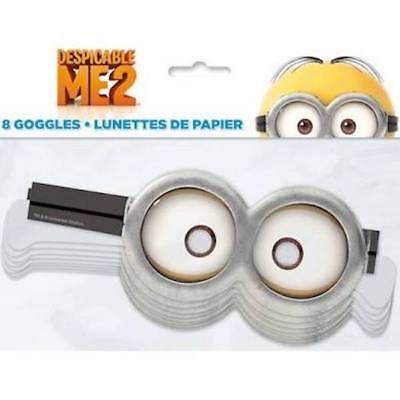 16 (2 packs of 8) Despicable Me Minions goggles Party Favors Dress up costume - Minion Dress Up