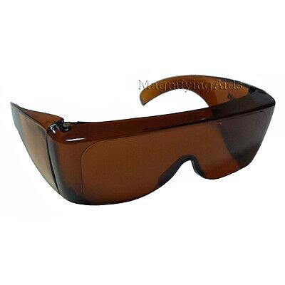 NoIR U40 UV Shield Glasses - Amber - Low Vision Glasses, Sun Blockers, (Noir Uv Shield Glasses)