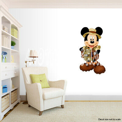 Mickey Mouse Room Decor (Safari Mickey Mouse Room Decor -  Wall Decal Removable)