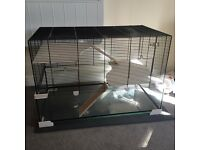 Ferplast Karat Glass Tank Metal Hamster Rodent Cage (+ some unused accessories)