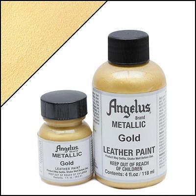 Angelus Metallic Gold acrylic leather paint 4 oz. ()
