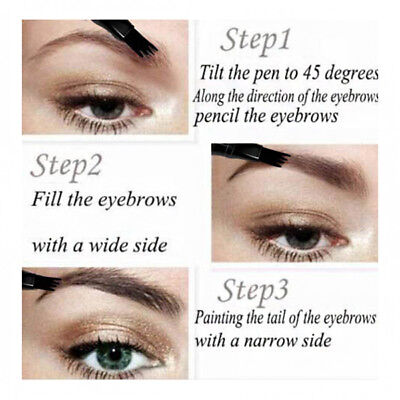 Patented Microblading Tattoo Eyebrow Ink Pen Eye Brow Makeup Pencil