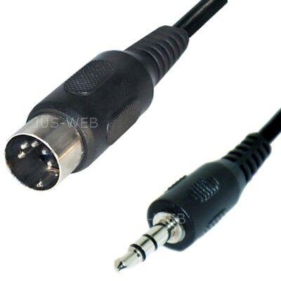 Audio Kabel 5pol DIN Stecker auf 3,5mm Klinke Stecker 1,5m Klinken Adapter kdu