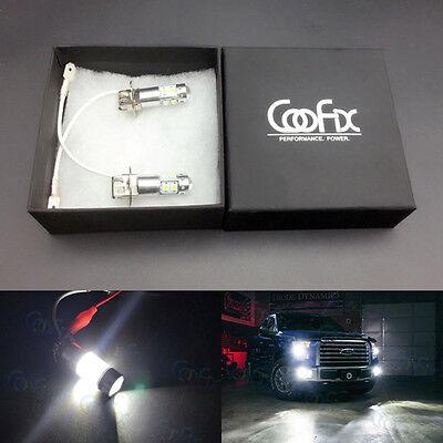 NEW 2x H3 6000K Super White CREE 50W LED High Power Fog Light Driving Bulb DRL