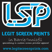 BEGINNING OF SUMMER SPECIAL on Screen Printed T-Shirts in Barrie