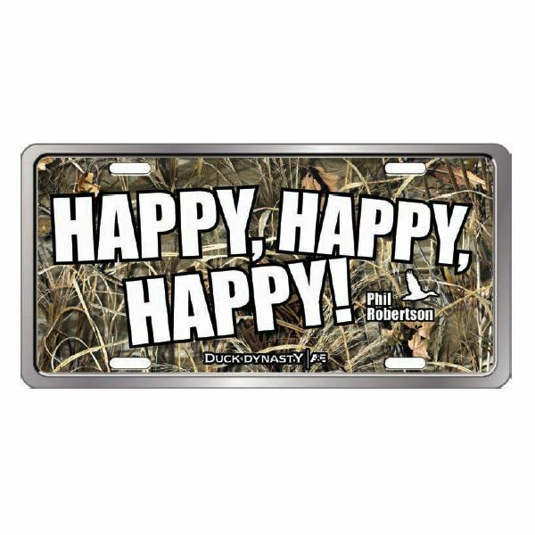 """New Duck Commander / Dynasty """"Happy Happy Happy"""" License Plate QLP2402"""