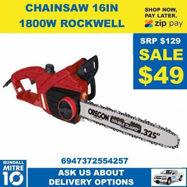 CHAINSAW 16IN 1800W ROCKWELL NOW BELOW HALF PRICE | Power