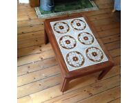 Vintage tiled coffee table