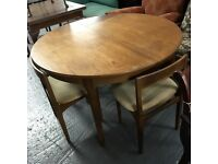 RETRO 'NATHAN' TEAK EXTENDING DINING TABLE & CHAIRS ⭐️NOW £155 ⭐️