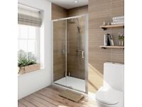 Victoria Plumb Orchard 6mm sliding shower door 1000mm