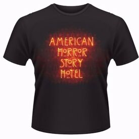 AMERICAN HORROR STORY NEON T SHIRT, ADULT SIZE 2XL