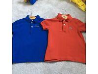 Lacoste tshirts age 4