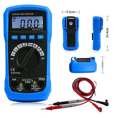 Adm02 Cars Range Digital Multimeter Acdc Voltage Current Temp Resistance Tester