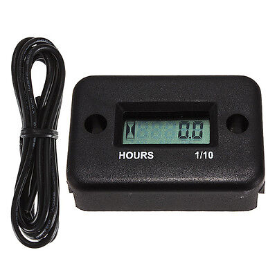 Digital LCD Motorcycle ATV Snowmobile Marine Boat Yama Ski Dirt Hour Meter Gauge on Rummage