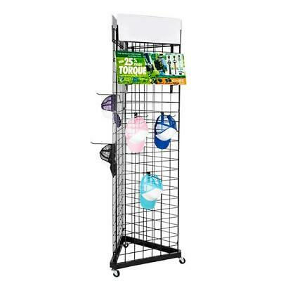 Display Grid Rack 3 Side 6ft Panel Wall Stand Retail Store Art Home Organizer Us