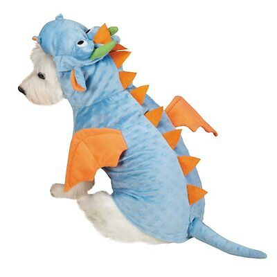 Dimple Dragon Dog Costume Spikes Tail Wings Horns Low-Pile Plush ZACK & (Spike Hund Kostüm)