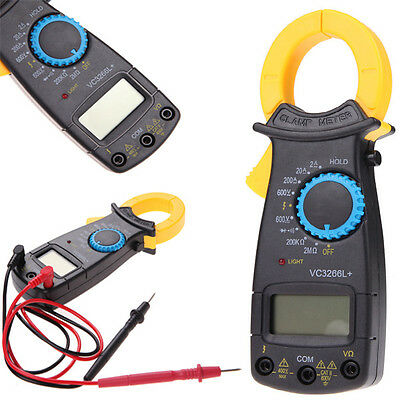 Portable Ac Dc Voltage Lcd Digital Clamp Multimeter Electronic Auto Tester Meter