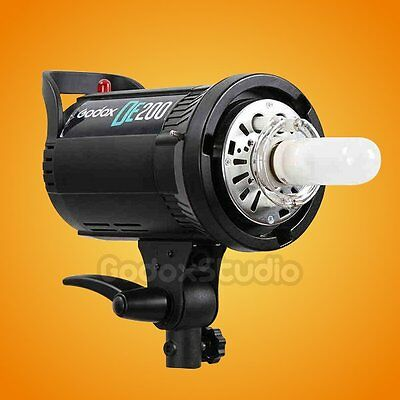 Godox Pro DE200 200W 200Ws Studio Lighting Compact Flash Strobe Light Lamp Head
