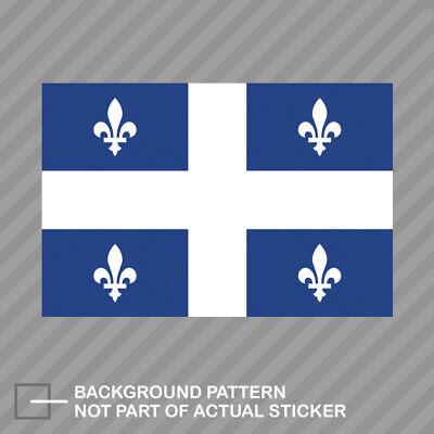 Quebec Flag Sticker Decal Vinyl Canada qc province