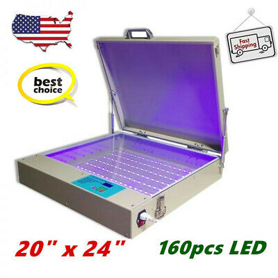 Us Stock Tabletop Precise 20 X 24 80w Led Uv Exposure Unit Screen Printing