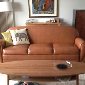 Two 6 month old leather sofas