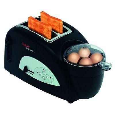 Tefal TT 5500 Toaster mit Eierkocher Toast n Egg Schwarz / Silber
