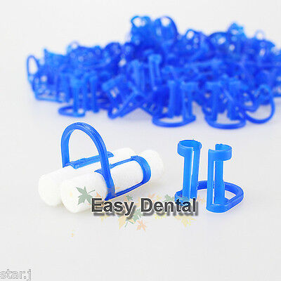 100pcs Cotton Roll Holder Clip Disposable Dental Isolator Tool Clinic Free Ship