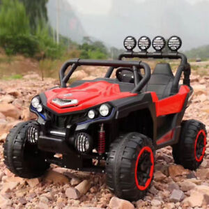 Kids 12V Two Seater 4-Wheel Drive Off Road Electric Car-$480