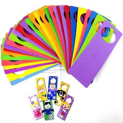Door Hanger Hangers Foam Craft Kids Crafts Assorted Colours Pack of 30 (Foam Door Hangers)