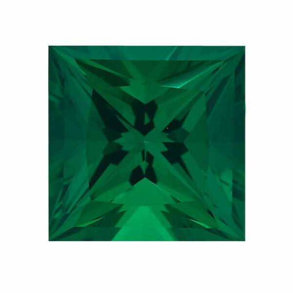 Lab Created Emerald Square Princess Cut shape AAA Quality from 2MM-10MM