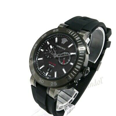 VERSACE V-EXTREME VCN020017 MEN'S BLACK DIAL AND STRAP 46MM SWISS WATCH