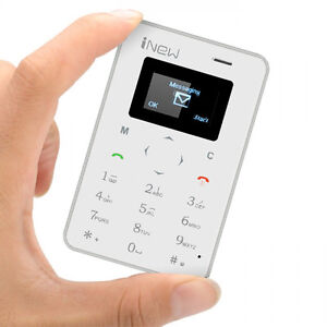 iNew Mini 1 GSM Credit Card Phone-Quad Band GSM White Color