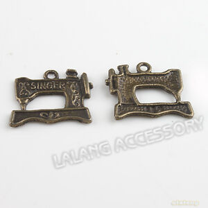 40x-140379-New-Sewing-Machine-Bronze-Charms-Pendants-Fit-Jewellry-Making-2mm