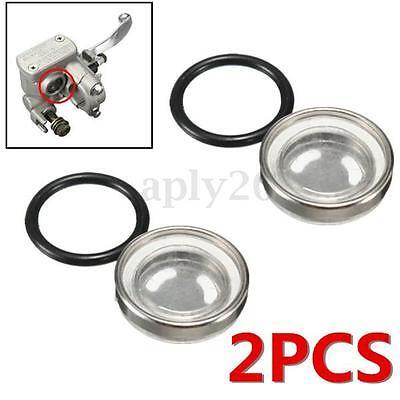 2PCS 18mm Motorcycle Bike Brake Master Cylinder Reservoir Sight Glass Len Gasket