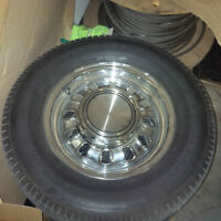 Classic Mustang Chrome Wheels & Tires -- 10/10 Perfect Condition
