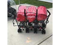 Brand new triple buggy