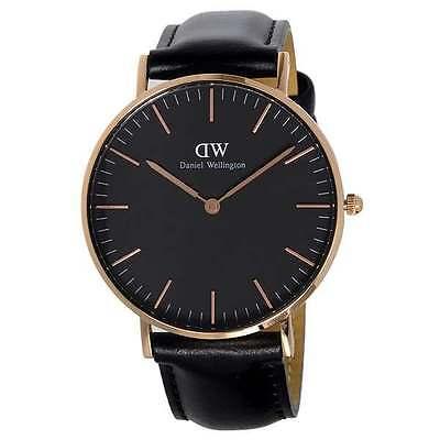Daniel Wellington Sheffield Black Dial Leather Womens Watch DW00100139