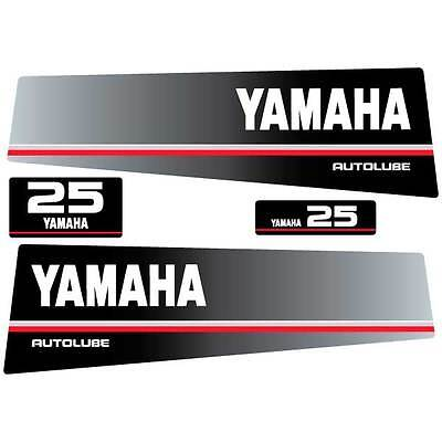 Yamaha 25 autolube outboard (1991) decal aufkleber sticker set, used for sale  Shipping to South Africa