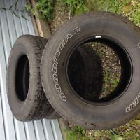 4 Goodyear wrangler tires   In excellent condition
