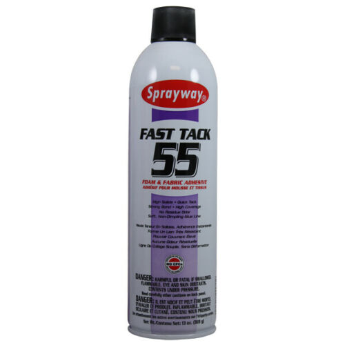 4 - 13 oz Cans of Sprayway 055 Fast Tack Foam & Fabric Adhesive