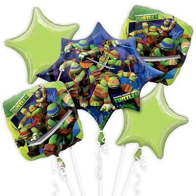 Ballon-Set TURTLES, für Ninja-mäßigen Party-Kindergeburtstag Junge, 5-teilig (Ninja Turtles Ballon)